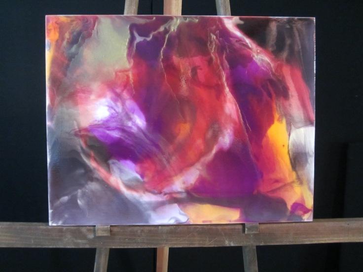First Luminous Pour Painting-focused Workshop 2015, 12x18