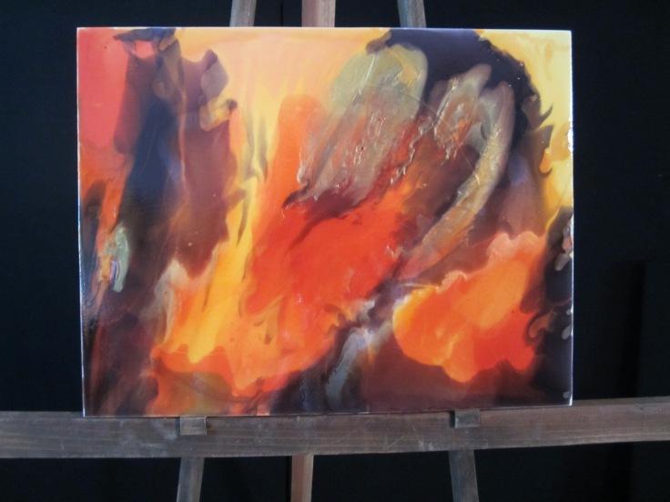 First Luminous Pour Painting Workshop, 2015
