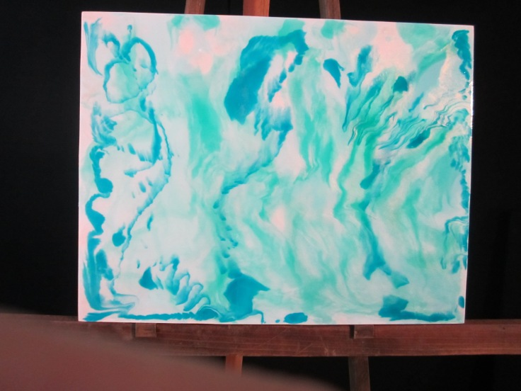First Luminous Pour Painting Workshop, 2015