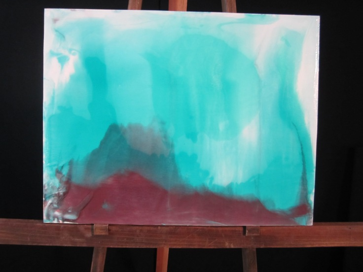 Luminous Pour Painting by Nancy Carver