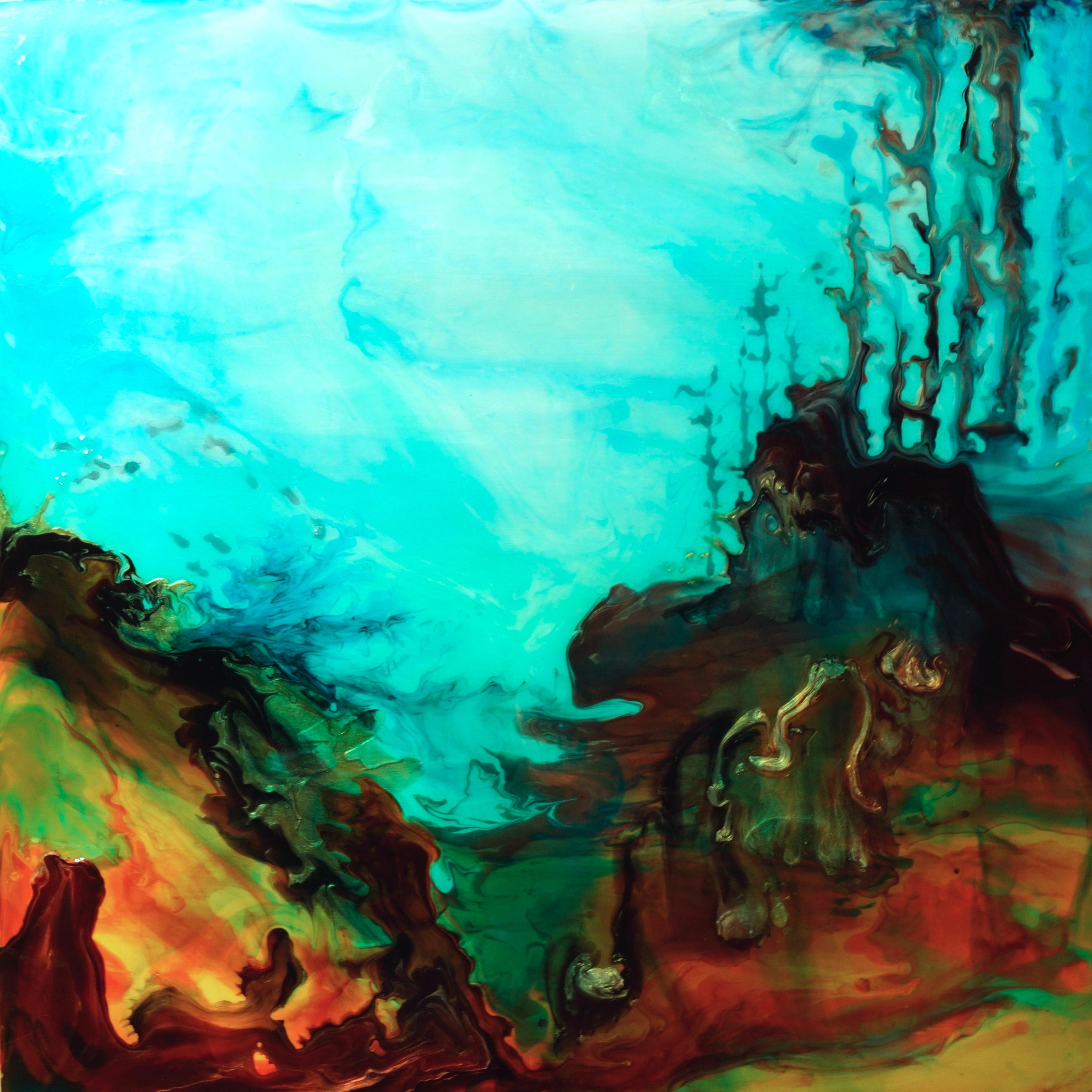 Pour Painting - Ocean floor painting